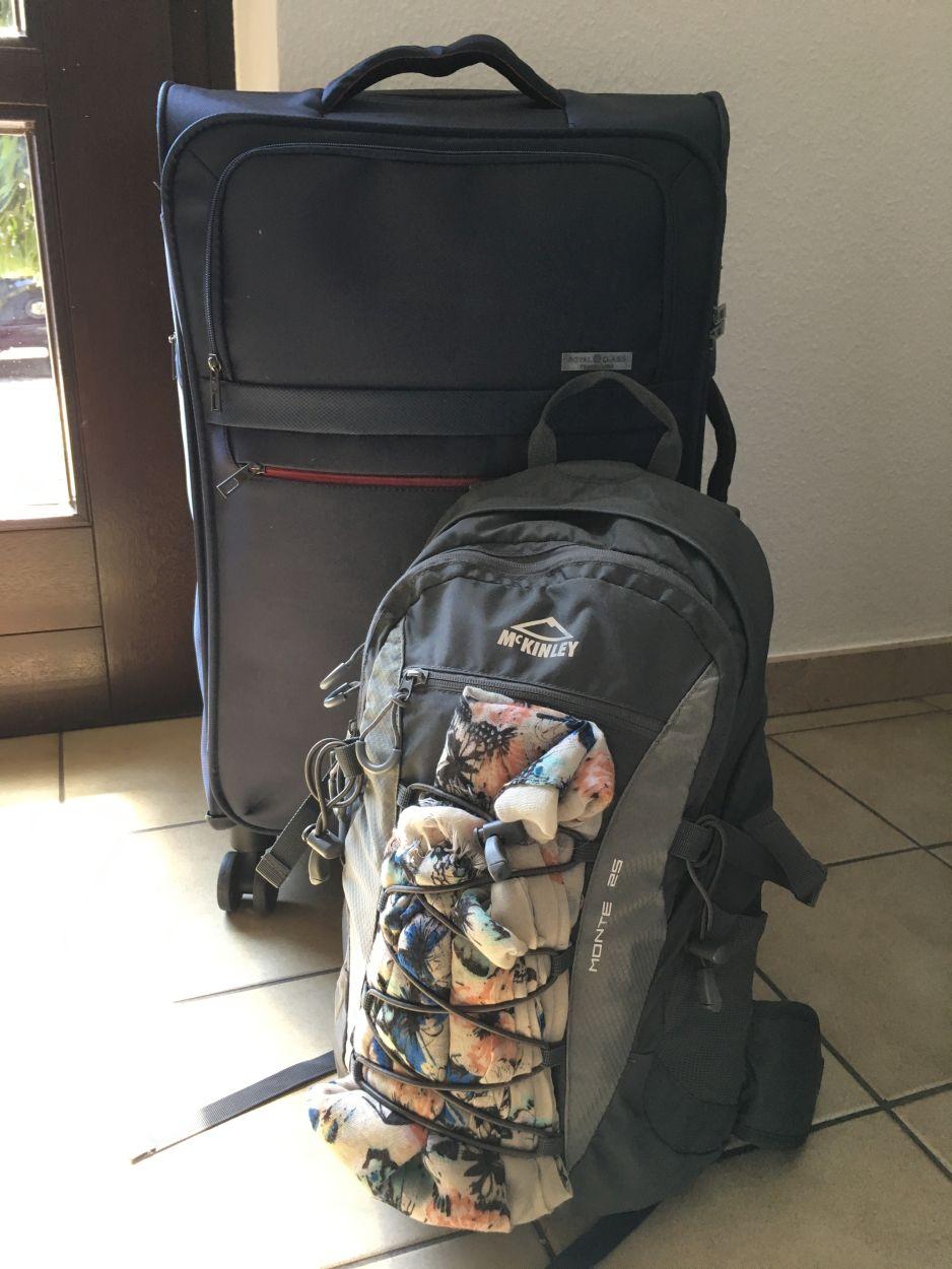 Unser Gepäck für Sri Lanka