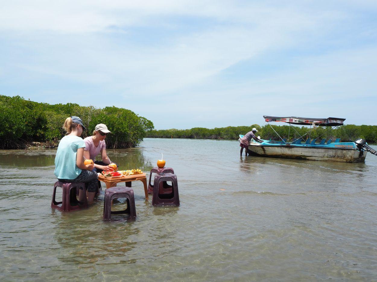 Lunch in der Lagune von Negombo