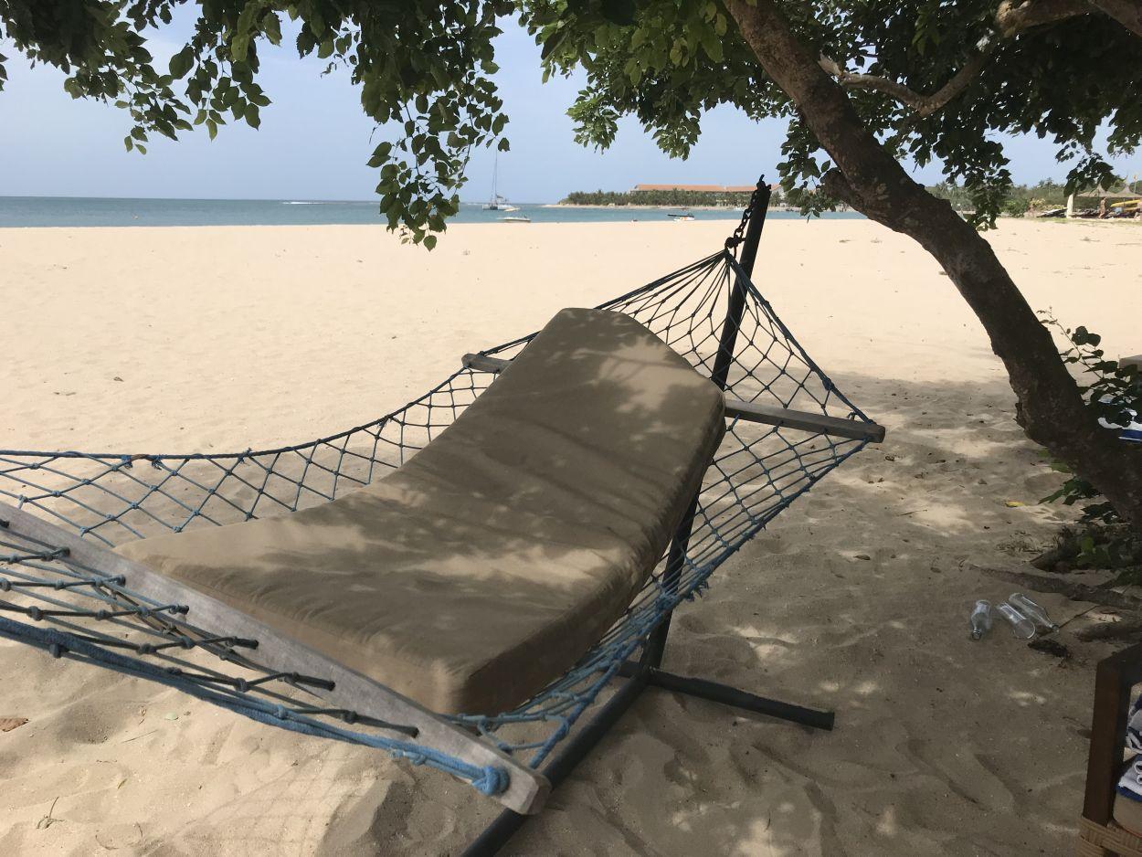 Hängematte am Strand Sri Lanka