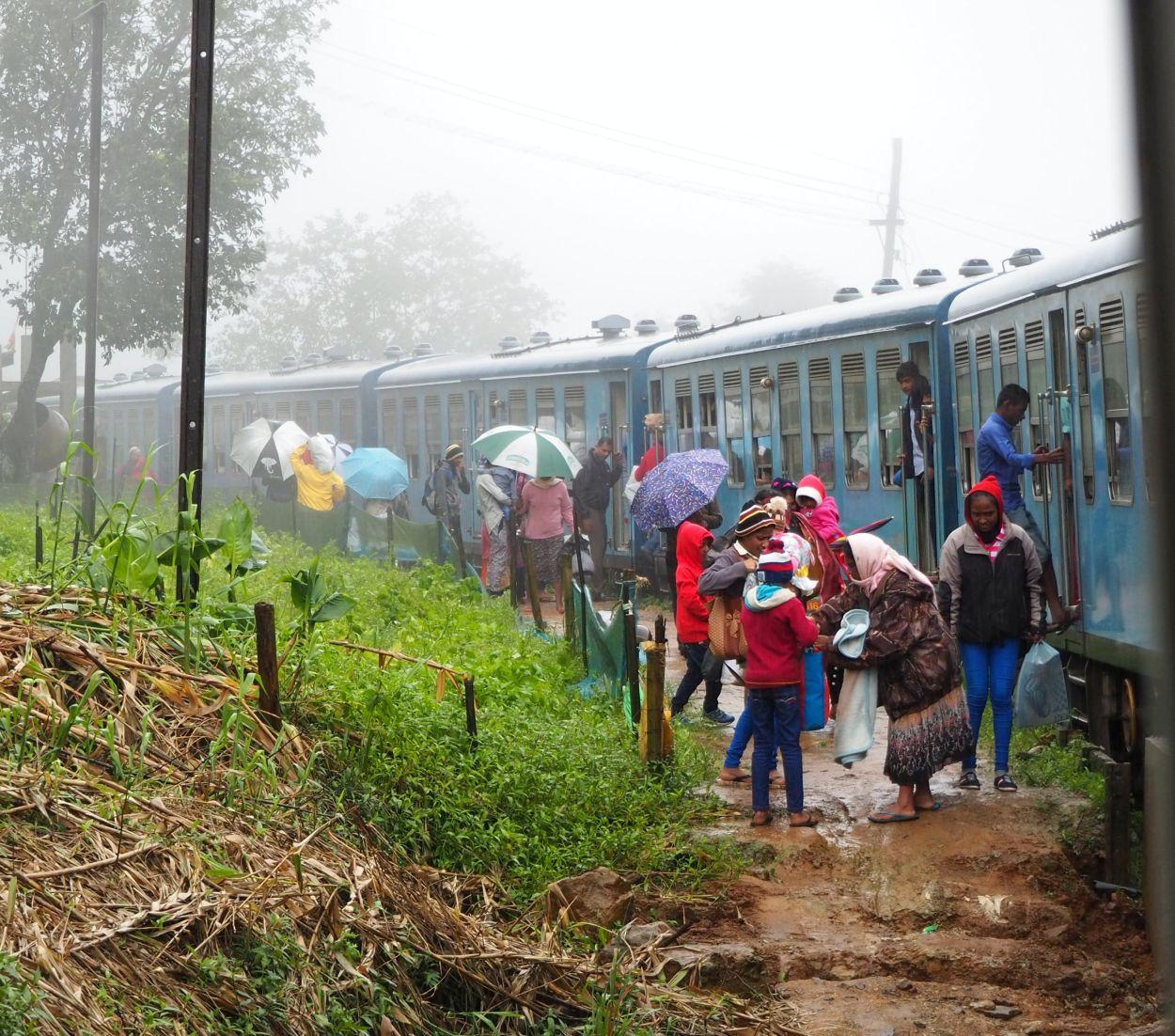 Ungewöhnlicher Zughalt in Sri Lanka