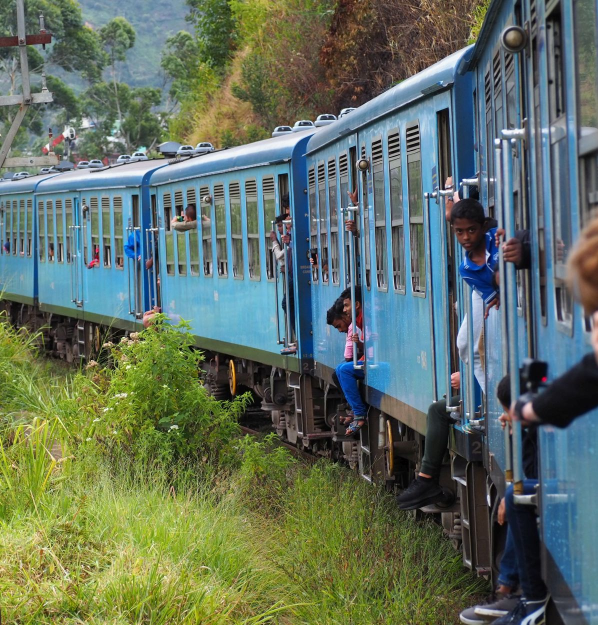 Bahnfahrt in Sri Lanka