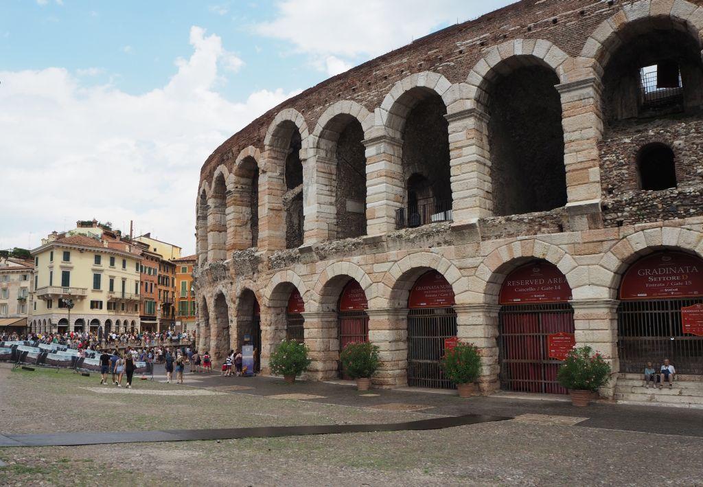 Die Arena von Verona auf dem Piazza Brà