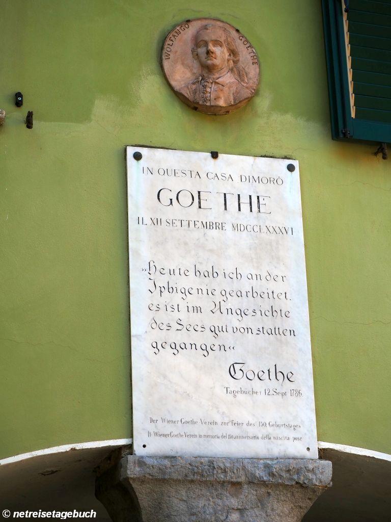 Goethe-Gedenktafel in Torbole