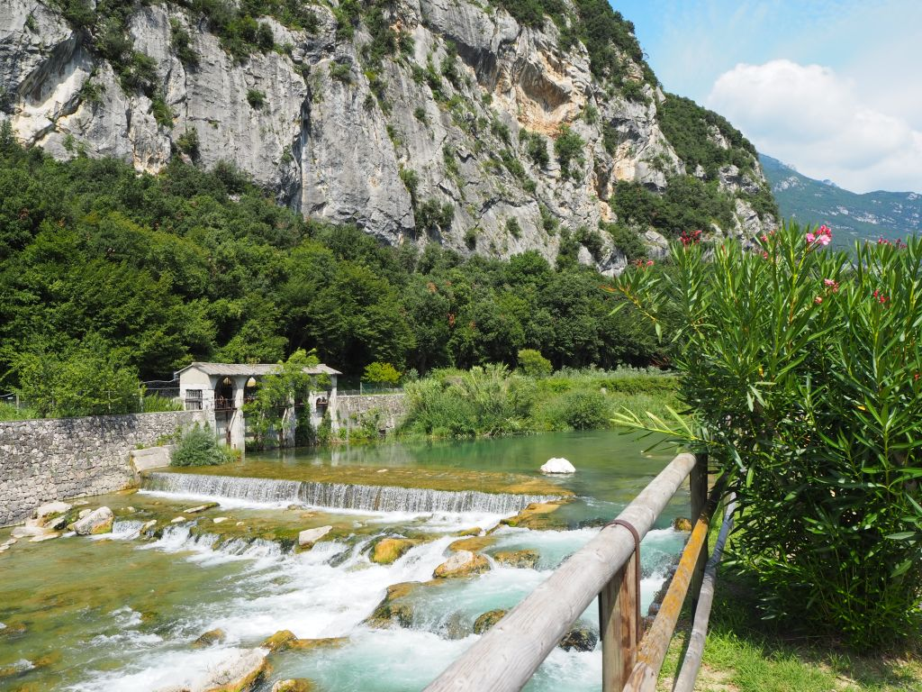 Der Fluss Sarca am Gardasee