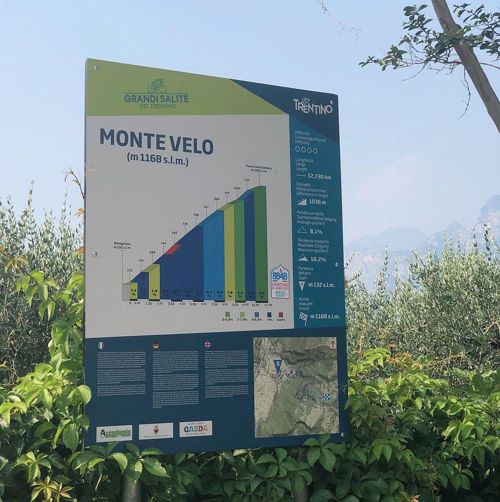 Mit dem Rennrad über den Monte Velo
