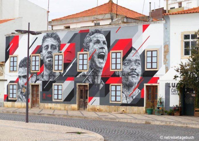 Straßenkunst in Portimao
