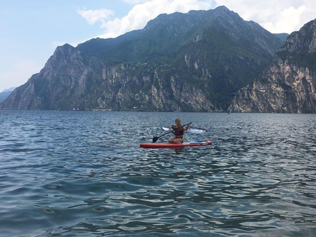 Stand Up Paddling am Gardasee
