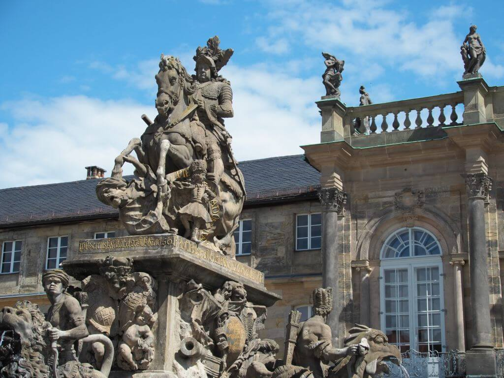Markgrafenbrunnen am Neuen Schloss in Bayreuth