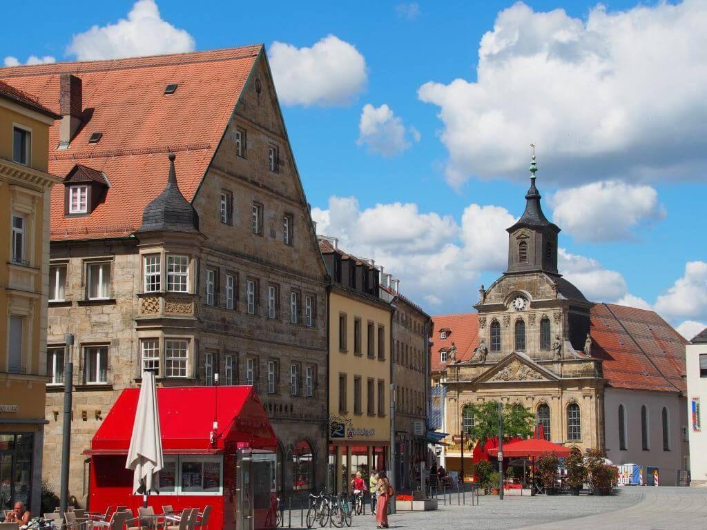 Straßenmarkt in Bayreuth