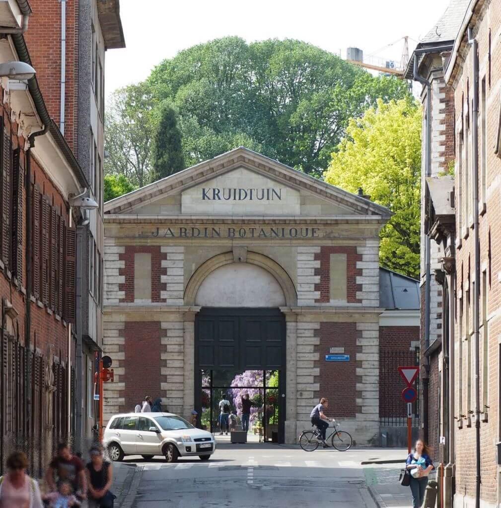 Eingang zum Botanischen Garten in Leuven