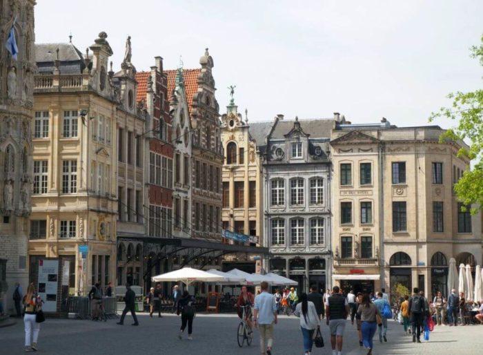 Grote Markt in Leuven / Belgien
