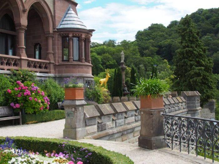 Außenbereich von Schloss Drachenburg