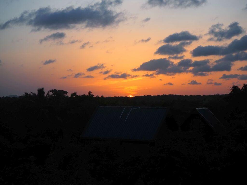 Sonnenaufgang in Sri Lanka