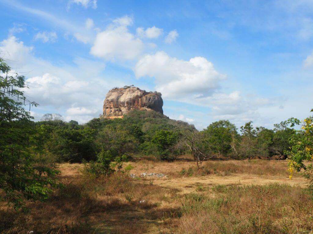 Blick auf den Sigiriya-Rock / Löwenfels