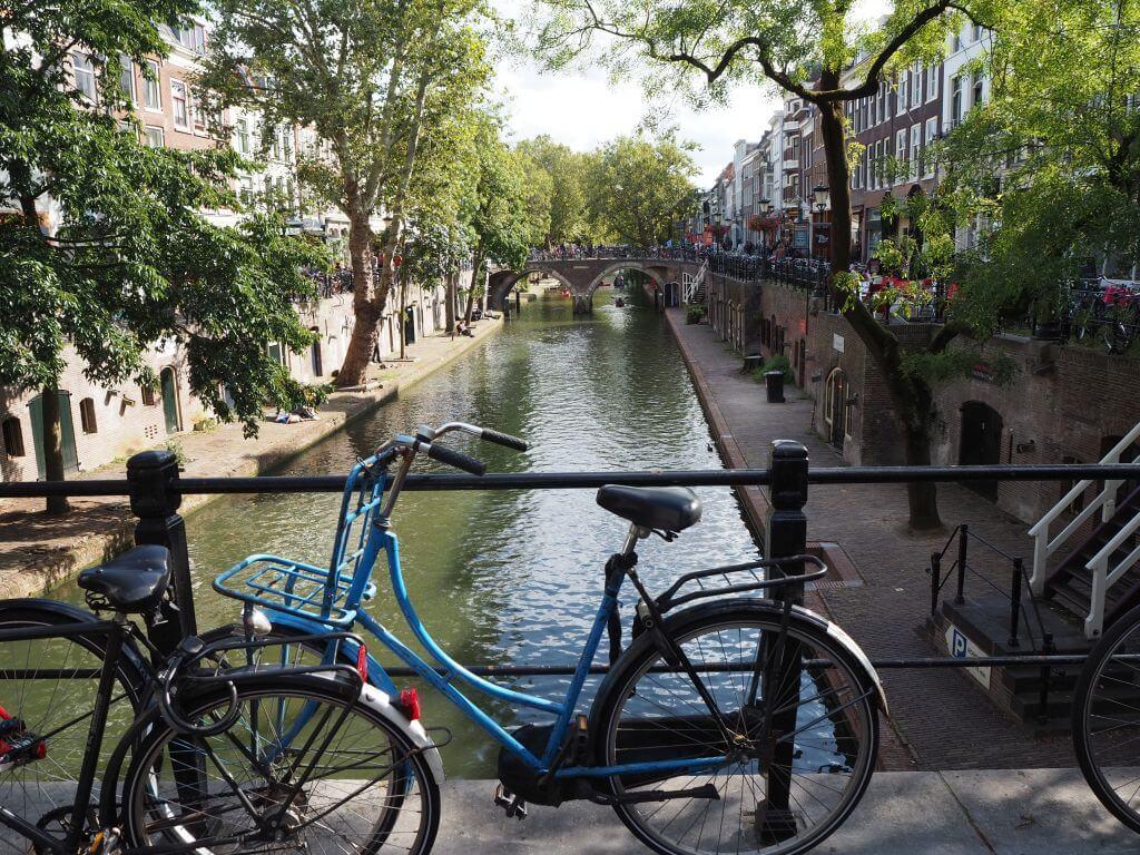 Mit dem Fahrrad durch Utrecht