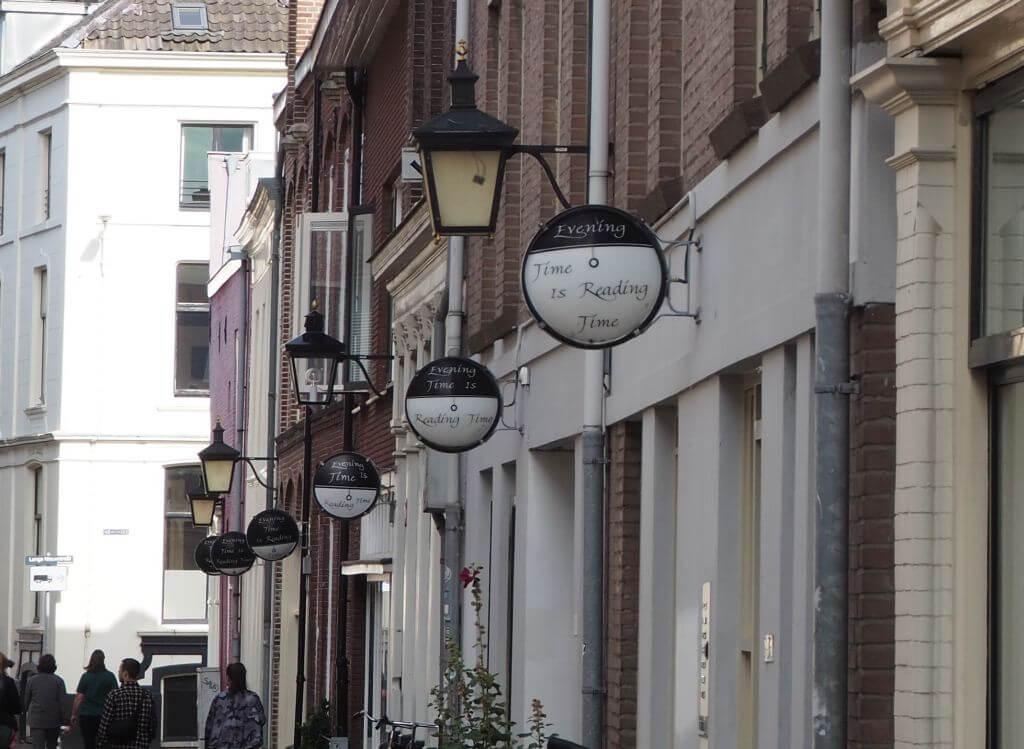 Kunstprojekt in der Korte Smeestraat in Utrecht