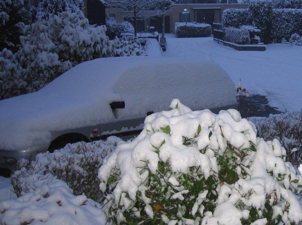 Autofahrt in den Winterurlaub